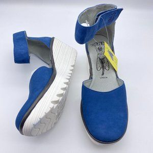 Fly London Cupido leather wedge sandals size 38